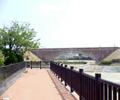 平木橋に水が通されました